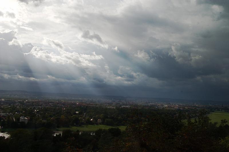Dresden nach der Gewitterfront